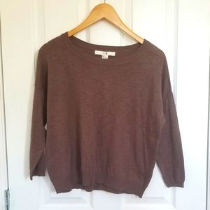 🔥[FREEADDON] Forever 21 Brown Thin Sweater